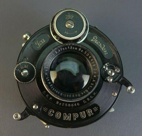 Rare Dresden Doppel-Anastigmat Maximar 120mm  F5.4 Lens w/ Compur Shutter
