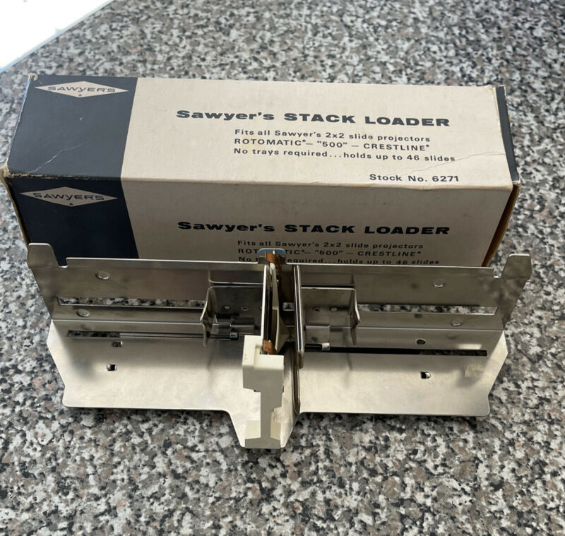 "Vintage Sawyers Stack Loader   46 2x2 Slides   Stock no. 6271   Rotomatic ""500"""
