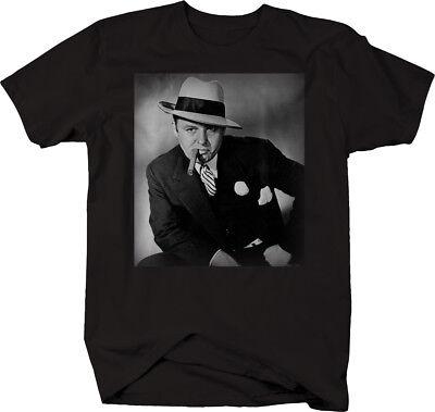 Al Capone Suit Cigar American Gangster Retro Vintage  Tshirt