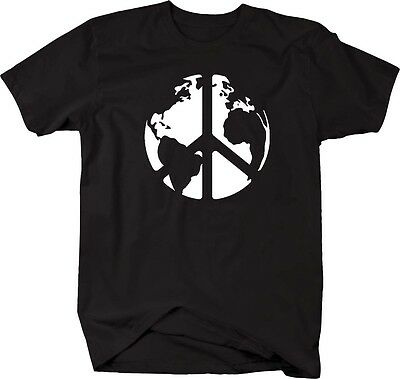 Tshirt -World Peace Sign Global Harmony & Love