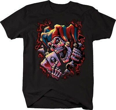 Tshirt -Wicked Jester Playing Poker - Wicked Jester