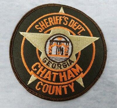 Savannah Georgia Sew On Patch Sheriff Department Chatham County Georgia USA VTG