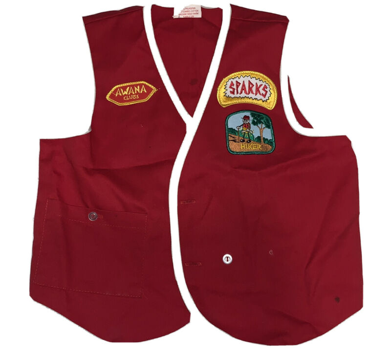 Awana Club Sparks Vest with Patches - Large