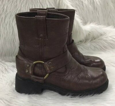Harley Davidson Brown Leather Boots Youth Boy Size 5.5 Boys Harley Davidson Boots