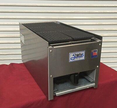 New 12 Lava Rock Char Broiler Grill Gas Stratus Scb-12 4095 Commercial Cook Nsf