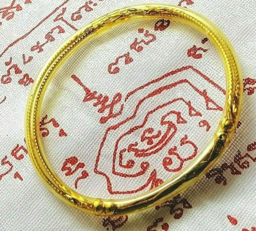 Talisman Bracelet Rubber Sea whip coral Calling money Protect occult Thai amulet