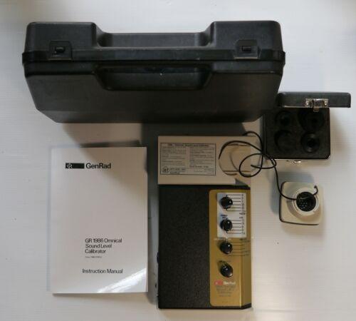 General Radio Genrad GR1986 Omnical Sound Level Calibrator with instruction manu