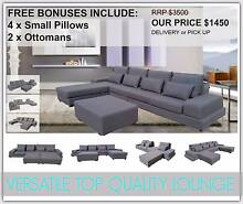Brand New Grey Fabric Corner Chaise Lounge Suite Sofa Furniture Mount Kuring-gai Hornsby Area Preview