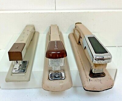 Lot Of 3 Vintage Staplers Bates 56 Arrow 210 Irvin 750 All In Working Condition