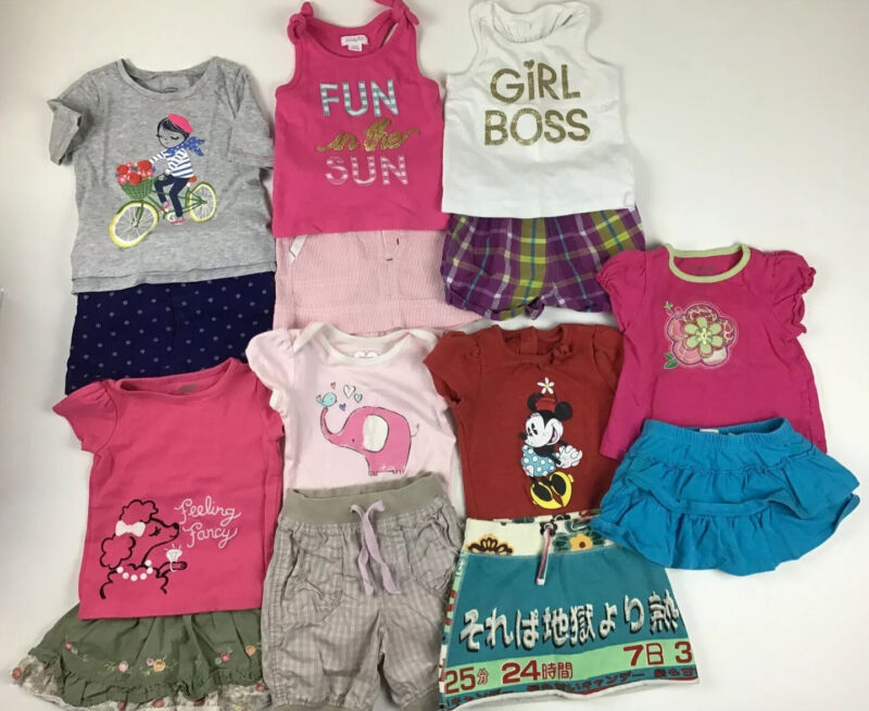 Lot Of Girls Clothes, Size 12-18 Months.  Spring/ Summer Skirts  ~fast Shipping~