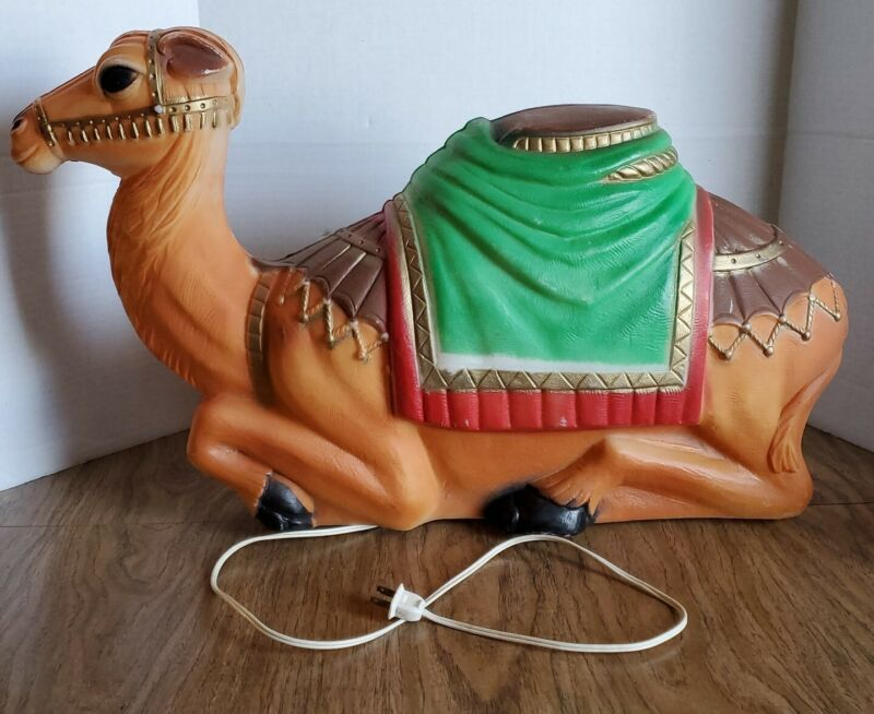 "Vintage Empire Camel Lighted Blow Mold Christmas Nativity Yard Decoration 27.5"""