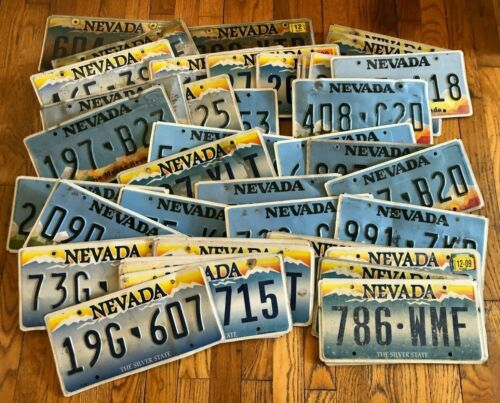 Mix of 50 Nevada License Plates - Craft Condition