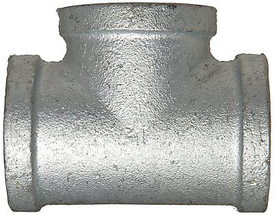 New 3 Inch Galvanized Steel Straight Tee 3 X 3 X 3 Fnpt Thread Nib