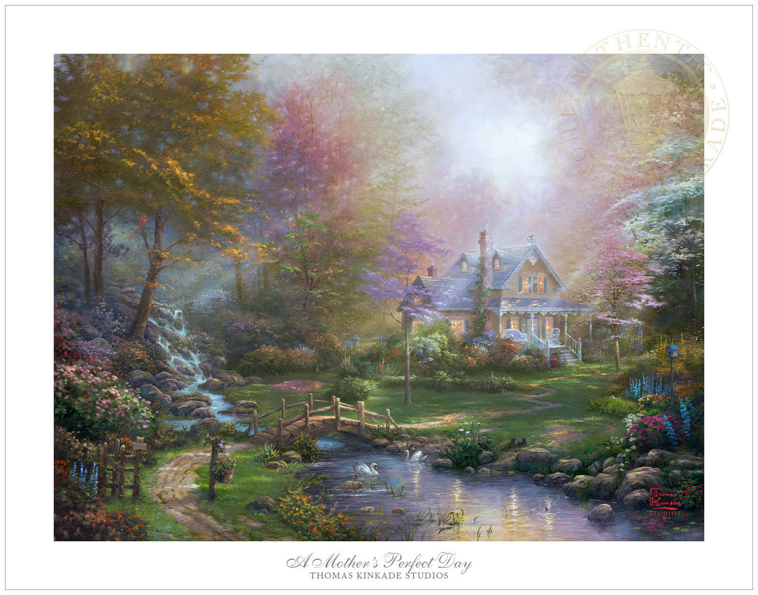 Thomas Kinkade Studios A Mother's Perfect Day 18 x 24 SN Limited Edition Paper