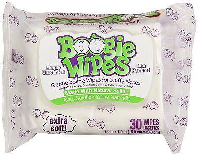 Boogie Wipes Weich Kochsalzlösung Unscented Wischtücher für Verstopfte Nasen