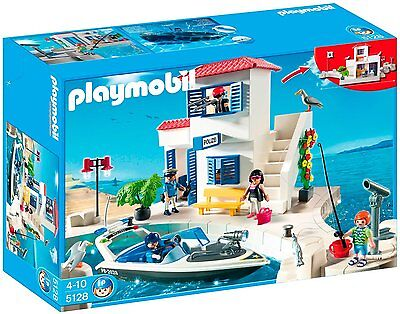 Playmobil Harbor Police Station with Speedboat 5128