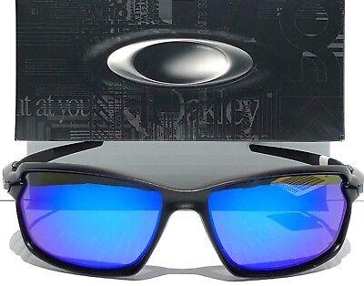 009a3e4504 NEW Oakley CARBON SHIFT Matte Black POLARIZED Galaxy Blue Sunglass 9302-01