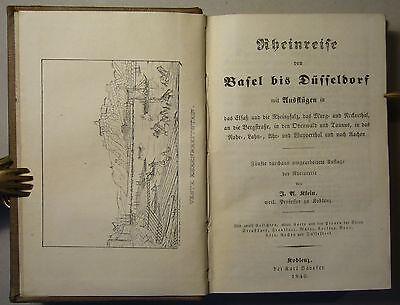 BAEDEKER / KLEIN: RHEINREISE VON BASEL BIS DÜSSELDORF. 5. Aufl. 1846, sehr rar!