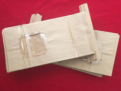 Brown Bakery Bags With Window Kraft Paper Bags - 50 Bags