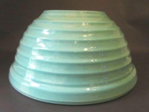 VTG Aqua Green Bauer Beehive #12 Large Mixing Bowl- Pottery USA Mid Century Mod.