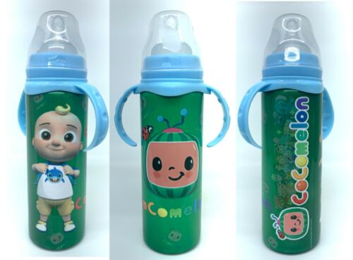 CocoMelon Baby Bottle - Insulated Stainless Steel, 5 Coco Melon art options