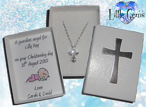 PERSONALISED GUARDIAN ANGEL NECKLACE CHRISTENING / COMMUNION BABY / CHILDS GIFT