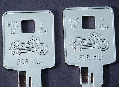 Harley Davidson Motorcycle Sportster 1995 1998 2002 2006 2008 & Up Hd Key Blank