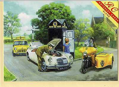 MGA WITH AA MINIVAN & MOTORCYCLE---GREETINGS PRINT CARD--KEVIN WALSH