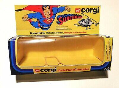 CORGI 929 SUPERMAN's JETCOPTER High Quality Repro Box