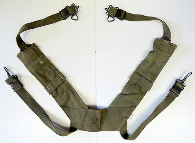US MODEL M-1956 COMBAT FIELD PACK SUSPENDERS-CANVAS TYPE