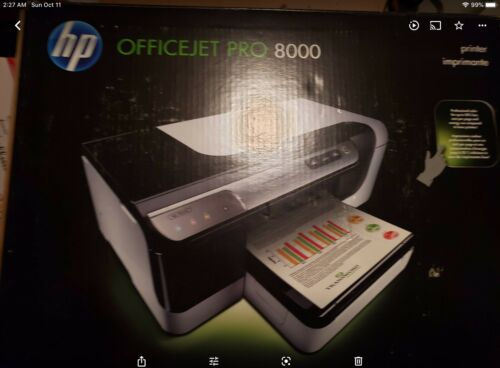 HP Officejet Pro 8000 Color Inkjet Printer Duplex A809a OPEN BOX - $129.99