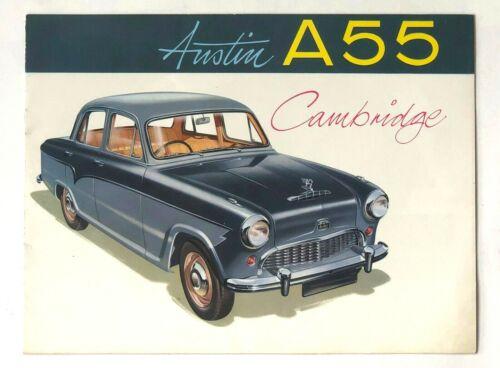 Vintage 1957 1958 Austin Cambridge A55 Sales Brochure Specifications Engine Art