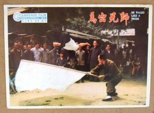 {Set of 6} He Walks Like a Tiger (Kuen Cheung) Kung Fu Original Lobby Card 70s