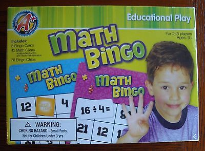 Math Bingo Game Teacher Class Classroom Homeschool ...