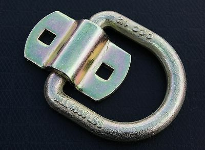"""6 Bolt On D Ring 1/2"""" Flatbed Truck Car Trailer Tie Down Strap Chain Rope Rings"""