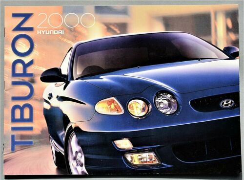 "ORIGINAL 2000 HYUNDAI TIBURON SALES BROCHURE ~ 20 PAGES ~ 9"" X 12"" ~ 00HYTIB"