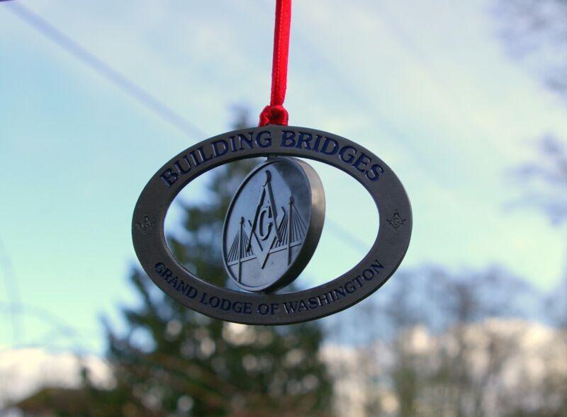 Building Bridges Grand Lodge of Washington WA State Freemasons Mason Ornament