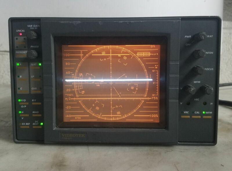 VIDEOTEK TVM-621 WAVEFORM MONITOR/ VECTORSCOPE