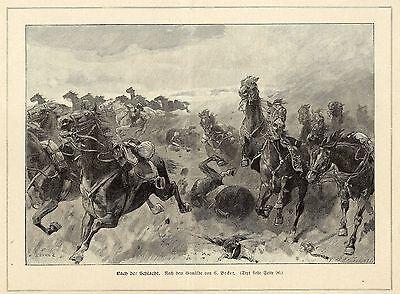 C.Becker ( Nach der Schlacht ) Militärische Graphik von 1899