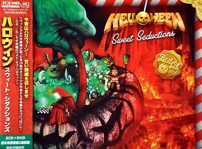 HELLOWEEN Sweet Seductions JAPAN Plastic Case HQCD x3 + DVD (ALL) VIZP-155 NEW