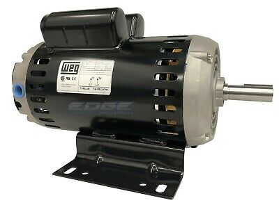 Weg 00636os1xcd1824y Air Compressor Motor 6.5 Hp 3510rpm 240v 1824y Frame