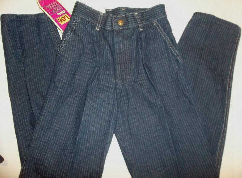 """Jeans 10 slim LEE 22 1/2"""" Inseam 27"""" Petite Girl Dark Blue New Old Stock Vintage"""