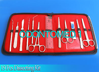 19 Pcs Dissecting Kit Dissection Kit Anatomy Kit For Medical Student Ds-1260