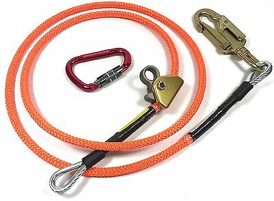 Climb Right 12 X 8 Steel Core Lanyard Kit Flipline 75221 Swivel Snap Arborist