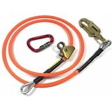 "Climb Right 1/2"" X 10' Steel Core Lanyard Kit Flipline 75222 Swivel Snap"