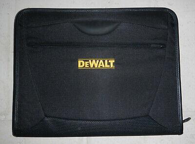 Dewalt Tools Company Logo Zippered Canvas Padfolio Organizer Notebook