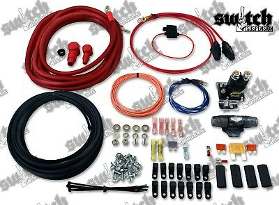 Dual Air Compressor Wiring Kit 4 Gauge Power Wire All in 1 Kit w Instructions