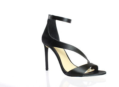 Imagine by Vince Camuto Womens Rieta Black Ankle Strap Heels Size 8.5 (628410)