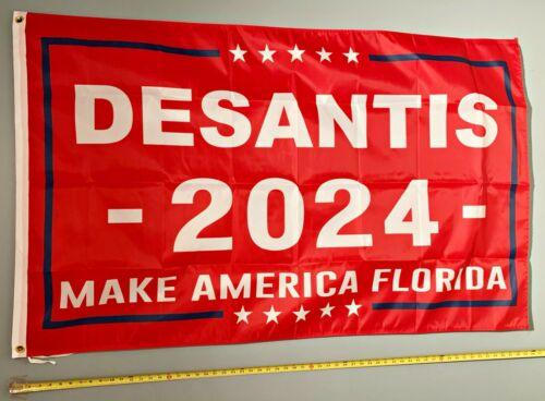 RON DESANTIS FLAG FREE SHIP USA SELLER! Make America Flordia R 2024 USA Sign 3x5