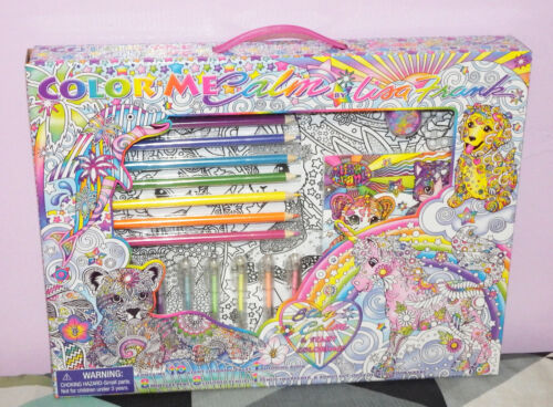 New Lisa Frank Color Me Calm Adult Coloring Kit